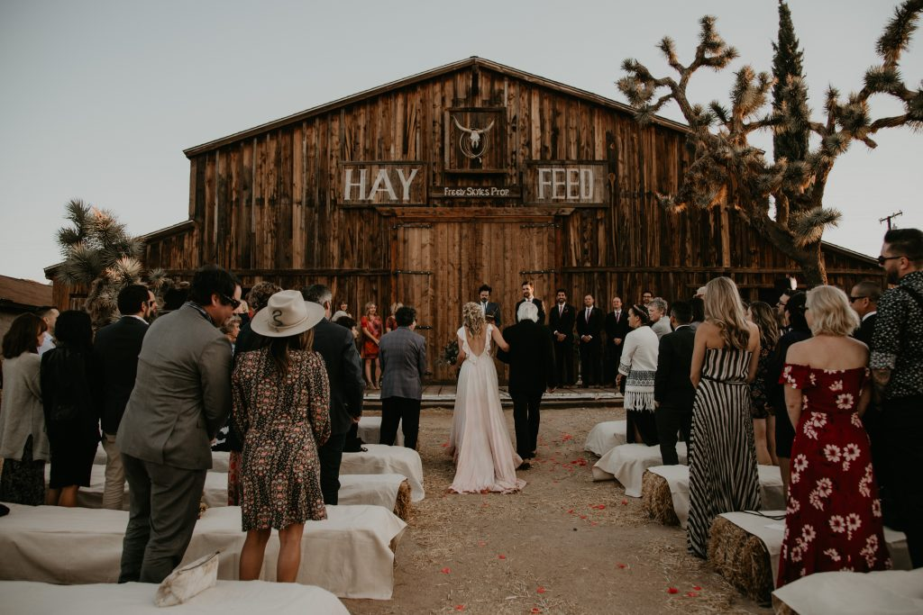 Pioneertown SoundStage wedding venue, photo by Fatima Elreda Photo