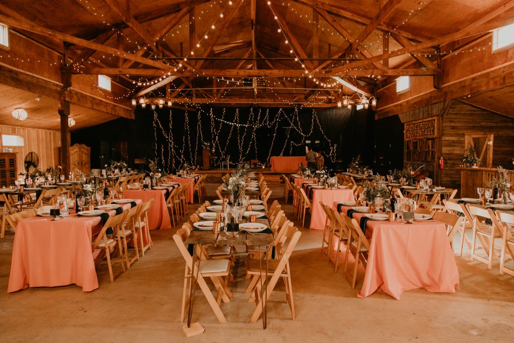 Pioneertown Wedding set up, photo by Fatima Elreda Photo