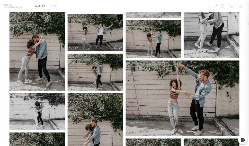Engagement photo session online gallery preview using Pic-Time, image by Fatima Elreda Photo