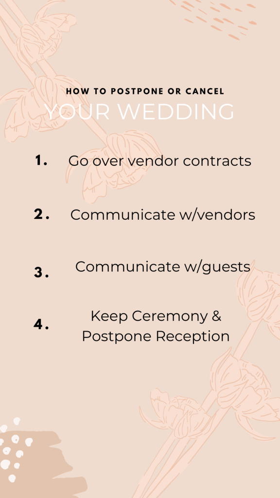 How to Postpone or Cancel Your Wedding, Fatima Elreda Photo